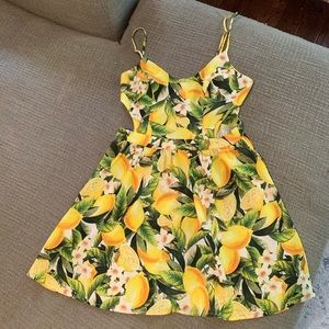 Show me your mumu piper lemon dress cutout small